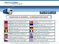 FEIERTAGE IN EUROPA -- EUROPEAN HOLIDAYS - Finsterwalder