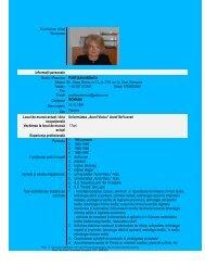Curriculum vitae Europass InformaŃii personale ... - Aurel Vlaicu