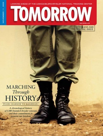 Tomorrow Magazine Veterans Day Special Issue, 2003