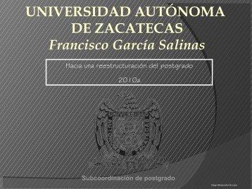 Hacia una reestructuración del postgrado. - Universidad Autónoma ...