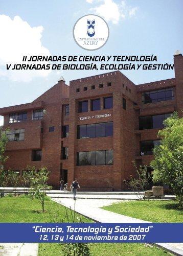"""""""Ciencia, Tecnología y Sociedad"""" - Universidad del Azuay"""