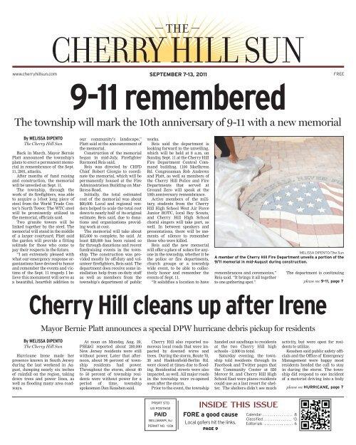 CherryHillSun template - 2009 - The South Jersey Sun - Sun News