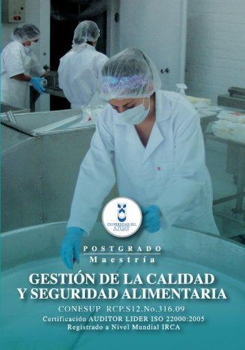 gestión de la calidad y seguridad alimentaria - Universidad del Azuay