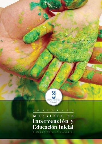 Intervención y Educación Inicial - Universidad del Azuay