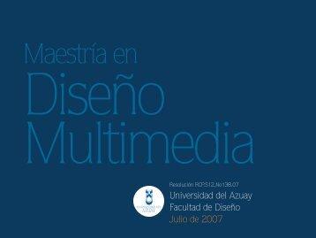 Universidad del Azuay Facultad de Diseño Julio de 2007