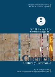 Cultura y Patrimonio - Universidad del Azuay