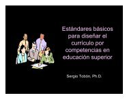 Estandares para el Diseño Curricular - Universidad del Azuay