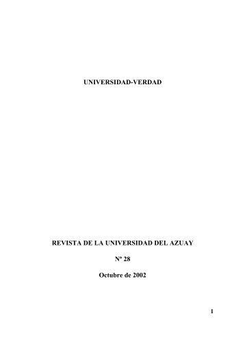 Revista 28 - Universidad del Azuay