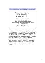 Ökonomische Aspekte einer Umstellung von RAK auf AACR