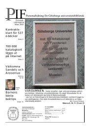 PIF mars 2001 - Göteborgs universitetsbibliotek