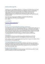 Läs mer och anmäl dig - Göteborgs universitetsbibliotek