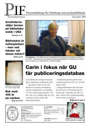 PIF december 2004 - Göteborgs universitetsbibliotek