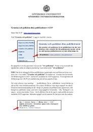 Granska och godkänn dina publikationer i GUP