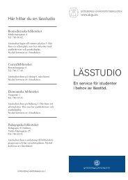 Om UB:s Lässtudior - Göteborgs universitetsbibliotek