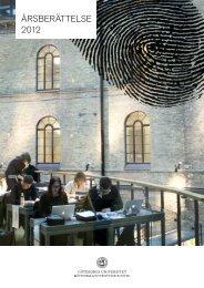 Årsberättelse 2012 (12.7Mb) - Göteborgs universitetsbibliotek