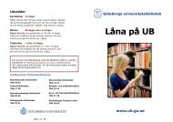 Låna på UB - Göteborgs universitetsbibliotek