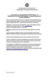 Instructions for E-publishing a PhD Thesis in Göteborg University ...