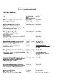 Erziehungswissenschaft - TU Dortmund