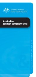 Australias counter terrorism laws