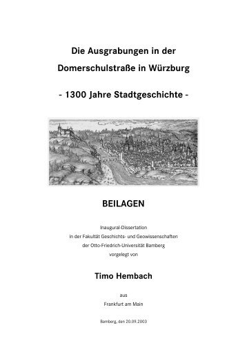BEILAGEN - Universität Bamberg