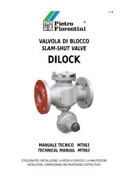 valvola di blocco slam-shut valve dilock manuale ... - Pietro Fiorentini