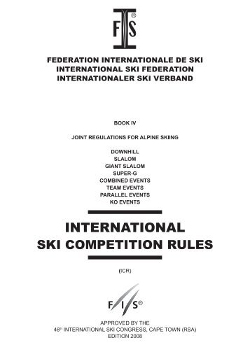 (ICR) 2008 - International Ski Federation