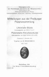 Mitteilungen aus der Freiburger Παρυrussammlung ,.