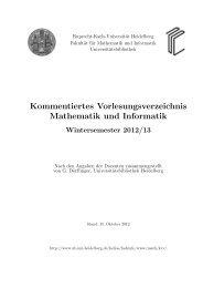 Kommentiertes Vorlesungsverzeichnis Mathematik und Informatik