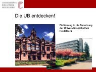 Teil 2 - Universitätsbibliothek Heidelberg