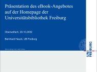 eBook-Präsentation in Freiburg - Bibliothek der Universität Konstanz
