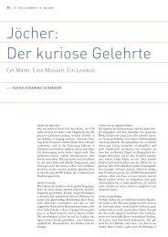 Jöcher: Der kuriose Gelehrte - Universitätsbibliothek Leipzig