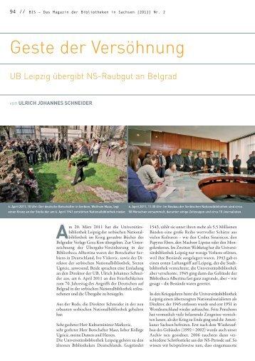 Vortragstext - Universitätsbibliothek Leipzig