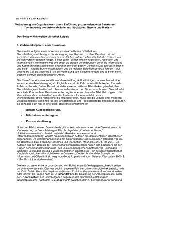 Vortrag vom 14.6.2001 (PDF, 42 KB) - Universitätsbibliothek Leipzig ...