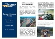 German Courses Passau - Universität Passau