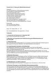 Protokoll der 21. Sitzung der Bibliothekskommission vom 30 ...