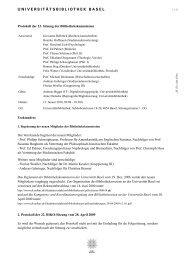 Protokoll der 23. Sitzung der Bibliothekskommission vom 12. Januar ...
