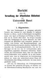 1918 - Universitätsbibliothek Basel - Universität Basel