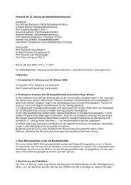 Protokoll der 22. Sitzung der Bibliothekskommission vom 28. April ...