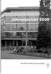 2009 - Universitätsbibliothek Basel - Universität Basel