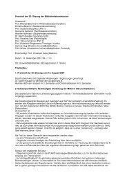 Protokoll der 20. Sitzung der Bibliothekskommission vom 13 ...
