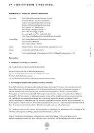 Protokoll der 25. Sitzung der Bibliothekskommission vom 1 ...