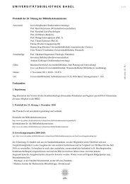Protokoll der 26. Sitzung der Bibliothekskommission vom 2 ...