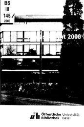 2000 - Universitätsbibliothek Basel - Universität Basel