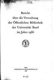 1966 - Universitätsbibliothek Basel - Universität Basel