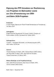 Eignung des PPP-Ansatzes zur Realisierung von Projekten im ...
