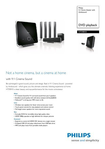 User Guide MRD-250 DVD HOME CINEMA SYSTEM - Philips