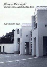 2001 (pdf) - Universitätsbibliothek Basel - Universität Basel
