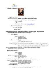 Delia Balas - Curriculum Vitae (Ge) - Universitatea Babes - Bolyai ...