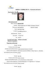 ANEXA 9: FORMULAR CV – Formular electronic - Universitatea ...