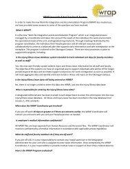WRAP Q & A's